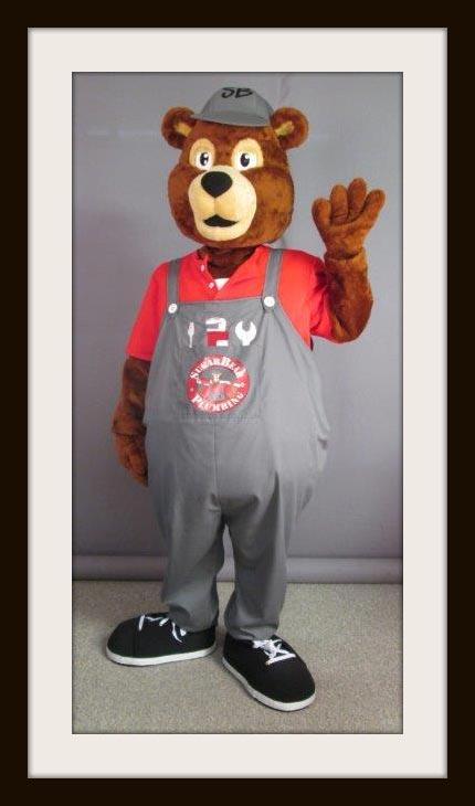 Sugar Bear Plumbing mascot
